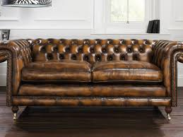 Chesterfield Sofa Used Living Room Off Crate And Barrel Lounge Ii Sectional Leather
