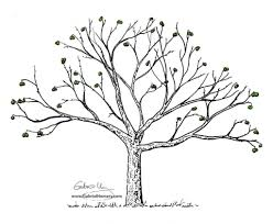 White Oak Tree Drawing Simple Tree Drawing Pencil Art Drawing