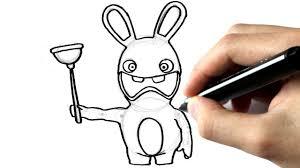 comment dessiner un lapin crétin youtube