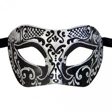 masquerade masks black venetian mask in london for black and silver settecento