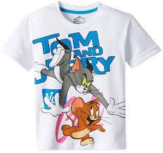 tom jerry boys u0027 shirt tj0dbt807 white 5 6 amazon