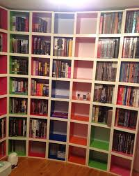Cube Storage Shelves Bookcases Replacing Bookshelves With Way Basics Cube Storage Disobey Com