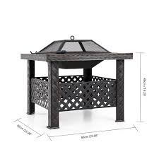ikayaa metal garden backyard patio outdoor fire pit lovdock com