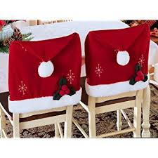 santa hat christmas chair covers set of 2 by