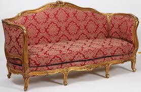 canap louis xv salon d apparat en bois dore de style louis xv composé d un canapé