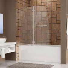 Trackless Bathtub Doors Frameless Glass Shower Door Ebay