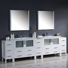 fresca torino double 96 inch modern bathroom vanity white with