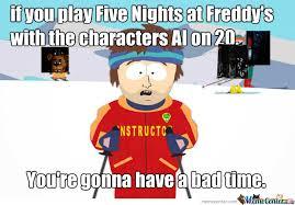 Meme Freddy - ski instructor meme five nights at freddy s by unfledgedjester on