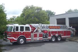 binghamton fire department tower ladder 1 fire trucks ladder