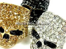 gold skull rings images Brand skull rings for men rock punk unisex crystal black gold jpg