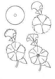 how to draw a simple flower step by step with pencil 18 lessons