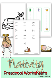 grab these colorful christmas nativity preschool worksheets