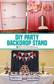 diy photo backdrop diy party backdrop stand guest post backdrop stand party