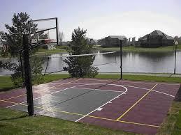 Building A Backyard Basketball Court Triyae Com U003d Build Basketball Court In Backyard Various Design