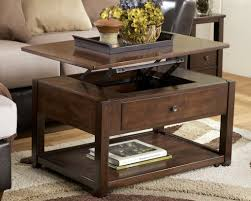 Coffee Tables With Shelves Furniture Brown Rectangle Wood Rustic Modern Coffee Table With