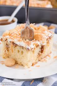 coconut caramel poke cake spend with pennies