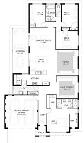 4 bedroom single story house plans single story house plans for wide lots decohome