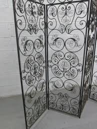 Metal Room Dividers by Italian Wrought Iron 4 Panel Screen Room Divider Lot 230
