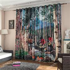aliexpress com buy carton child kids 3d curtains blackout aliexpress com buy carton child kids 3d curtains blackout curtains livingroom drapes bedroom window door christmas paravent hanging screen wall from