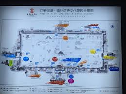 map of xi an the map of xi an city wall picture of xi an city wall