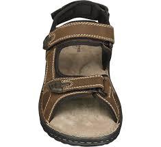 memphis one mens leather triple strap sandals brown dj24972