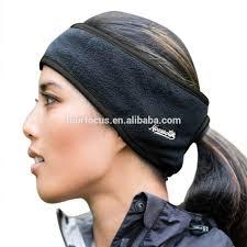 sport headband non slip headband fleece ear warmer ponytail headband sport