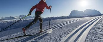 cross country skiing mecca in the dolomites