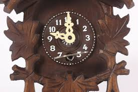Antique Cuckoo Clock Small Made In Germany Engstler Wooden Cuckoo Clock Birds No 0