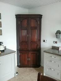 Tv Cabinet Kitchen Antique Georgian Full Height Oak Corner Cupboard Tv Cabinet