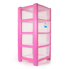 Drawer Storage Units A4 Plastic Storage Tower Unit Extra Large 4 Drawer