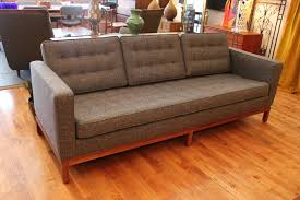 Tufted Vintage Sofa by Florence Knoll Sofa An Orange Moon Uber Hip Vintage Furniture