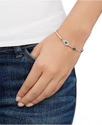 blue crystal bracelet swarovski images Swarovski rose gold tone clear and blue crystal evil eye tif