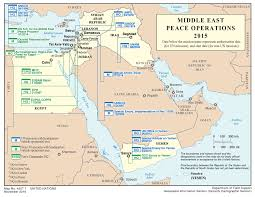 Un Map Middle East Global Peace Operations Review