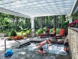 Pergola Lounge Nyc by Family Friendly Backyard Retreat Bob Hursthouse Hgtv