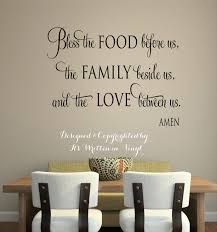 bless the food before us faith vinyl lettering wall words bless the food before us faith vinyl lettering wall words graphics home decor itswritteninvinyl