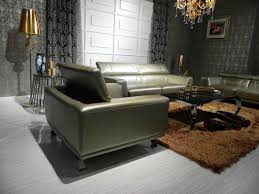 Modern Leather Couch Set Modern Bronze Leather Sofa Set Leather Sofas