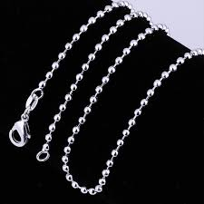 customizable necklace silver plated popcorn chain jewelry 2mm 16 inches customizable