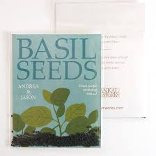 seed packet wedding favors grow together basil seed packet wedding favors ecopartytime