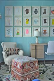 girls u0027 room redo ideas put their drawings characters in matching