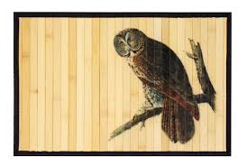 Owl Kitchen Rugs Bamboo Mat For Kitchen Mats Welcome Mats Or Outdoor Mats