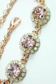 rose gold swarovski crystal bracelet images Blush crystal bracelet rose gold blush crystal bracelet swarovski jpg
