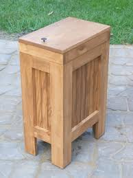 zoom wooden garbage can holder plans wood kitchen trash can
