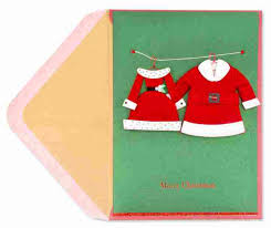 christmas hers his hers handmade santa suits christmas greeting cards papyrus