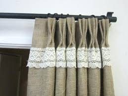 Smocked Burlap Curtains Smocked Burlap Curtains Smocked Jute Curtains Smocked Burlap