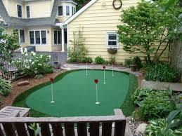 modern design backyard putting green entracing 15x28 ft backyard