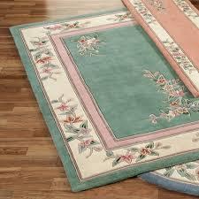 elegant corner floral area rugs