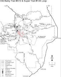 mt lemmon hiking trails map coronado national forest baldy trail 372