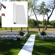 white aisle runner 50ft white wedding walkway aisle runner