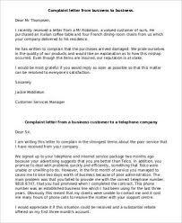 business complaint letter format lukex co