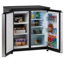 Cabinet Height Refrigerator Avanti Rms550ps 5 5 Cu Ft Side By Side Refrigerator Freezer